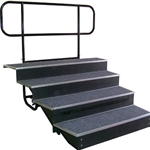 "4-step 6'8"" Concert Choir Riser w/ Back Rail"