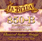 La Bella Concert (Black Trebles/Golden Basses) #LB850B