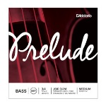D'Addario Prelude Double Bass String Set, 3/4 Scale, Medium Tension #J610