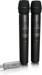 Behringer 2.4 GHz Digital Wireless 2 Handheld Microphones with Dual-Mode USB Receiver #ULM202USB