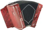 Alacran 34 Button/ 12 Bass, Diatonic Accordion #AL3412DLXFR